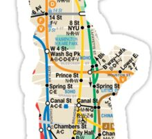 Statue of Liberty NYC subway map Sticker