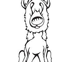 German Shepherd - Outline by Angry Squirrel Studio