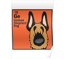 German Shepherd - The Dog Table Poster
