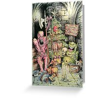 Monsters at Christmas Greeting Card