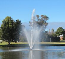 Forbes, Town fountain. Newell Highway, New South Wales. by Rita Blom