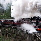 Puffing Billy and Trestle Bridge by Greg Carrick