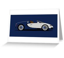 2009 Bugatti Veyron 16.4 Grand Sport Sang Bleu Greeting Card