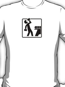 Drinking Cup Pictogram T-Shirt
