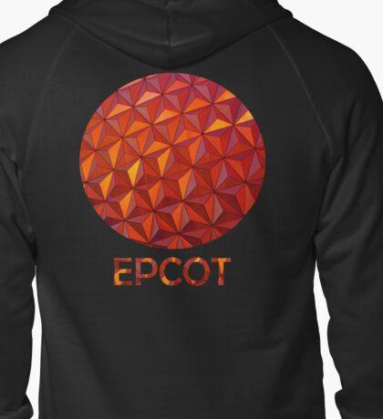 Geometric Epcot Zipped Hoodie