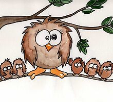 Six Little Owls by Kerry Cillo