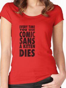 Comic Sans Black Women's Fitted Scoop T-Shirt