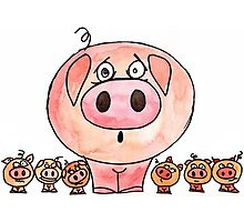 Six Little Pigs Photographic Print