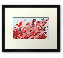 Canons of red, purple and brown ink. Framed Print