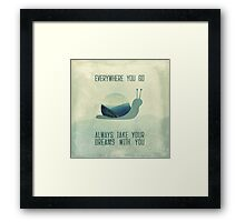 Always take your dreams with you Framed Print