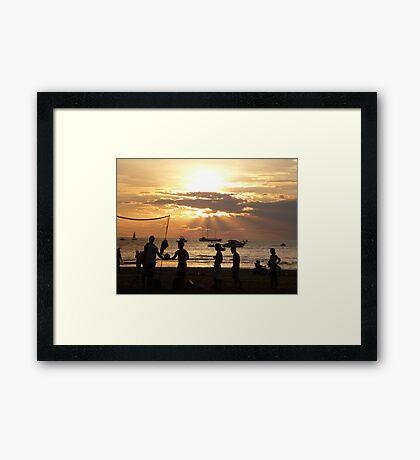 Evening Activities Framed Print