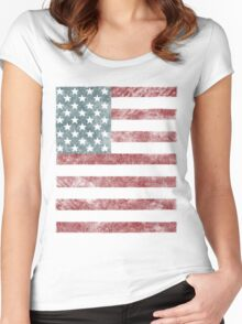 US Flag Women's Fitted Scoop T-Shirt