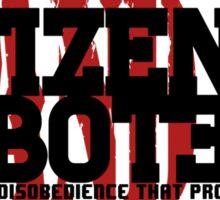 Citizen Saboteur 4 Sticker