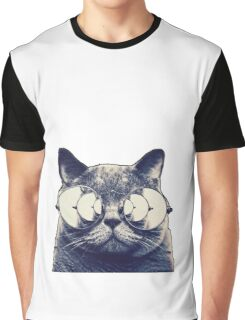 Trippy Cat Graphic T-Shirt