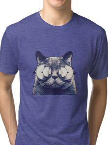 Trippy Cat Tri-blend T-Shirt