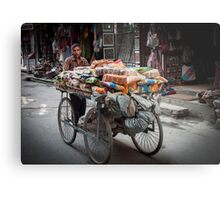 Selling on the Streets Metal Print