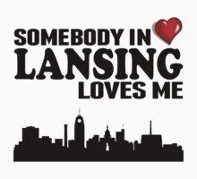 Somebody In Lansing Loves Me One Piece - Short Sleeve