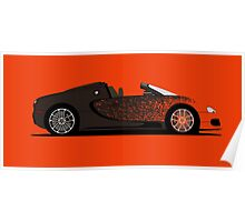 2012 Bugatti Veyron Grand Sport Bernar Venet Poster