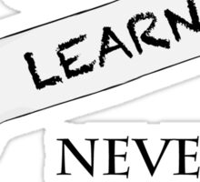 Win or Learn Sticker