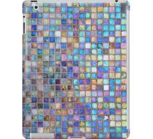 Iridescent glass mosaic blue/multi iPad Case/Skin