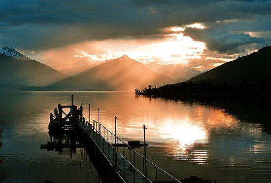 Lake Te Anau. South Island, New Zealand. (3) by Ralph de Zilva