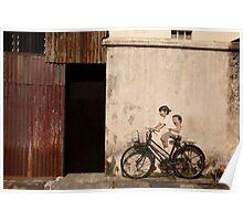 Street art at Armenian Street Georgetown Penang Malaysia Poster