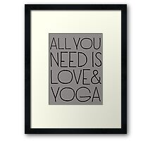 All you need is love & yoga - T-shirts & Hoodies Framed Print