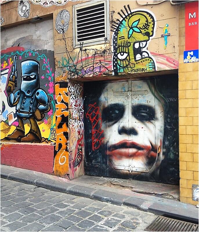 "Tribute to Heath Ledger as ""The Joker"" by HeidiA"