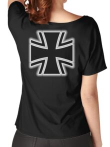 Germany, German, Iron Cross, Federal Defence, Bundeswehr Kreuz, Black Women's Relaxed Fit T-Shirt