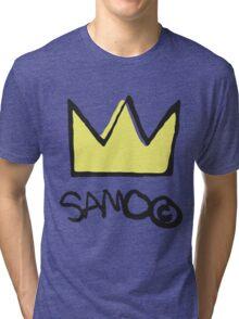 Basquiat SAMO Crown Tri-blend T-Shirt