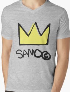 Basquiat SAMO Crown Mens V-Neck T-Shirt