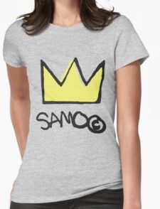 Basquiat SAMO Crown Womens Fitted T-Shirt
