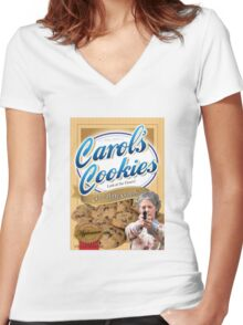 Famous Carol's Cookies Women's Fitted V-Neck T-Shirt