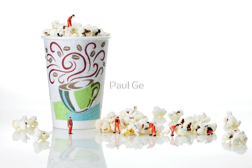 Team working on popcorn by Paul Ge