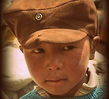 Young boy in Nepal by LeighBlake