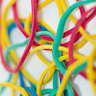 Assorted Rubber Band Background by Diana Beato