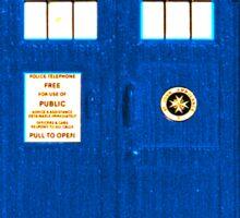 TARDIS Plain & Simple Sticker