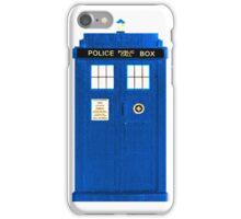 TARDIS Plain & Simple iPhone Case/Skin