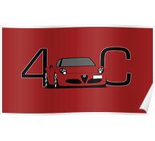 Alfa Romeo 4C Poster