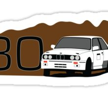 BMW E30 M3 Rally Car Sticker