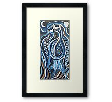 Catbird (Night) Framed Print