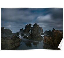 Cathedral Rock in Moonlight Poster