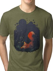 Firefly Fox - Red Tri-blend T-Shirt