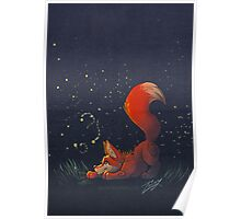 Firefly Fox - Red Poster