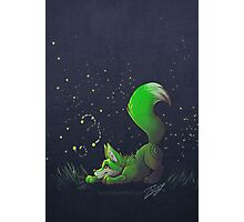 Firefly Fox - Green Photographic Print