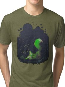 Firefly Fox - Green Tri-blend T-Shirt