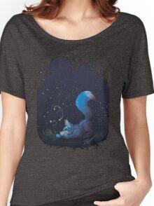 Firefly Fox - Blue Women's Relaxed Fit T-Shirt