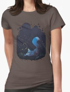 Firefly Fox - Blue Womens Fitted T-Shirt