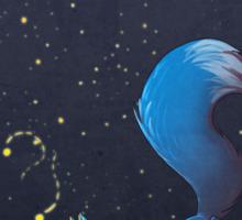 Firefly Fox - Blue Sticker