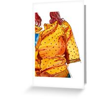 Her orange jumper Greeting Card
